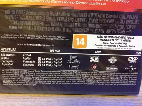 dvd - velozes e furiosos 4