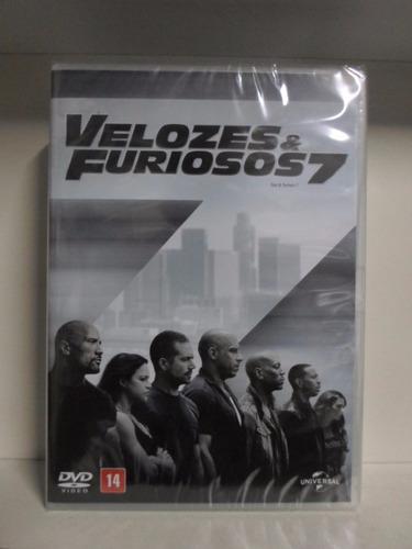 dvd velozes e furiosos 7 - lacrado