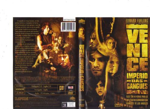dvd venice - império das gangues, edward furlong - original