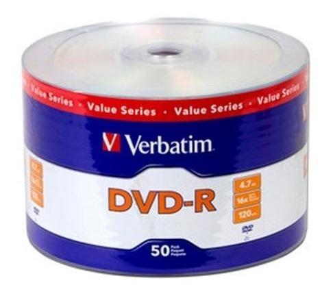 dvd verbatim -r x 50 unid estampados. + 50 dvd hp estampados