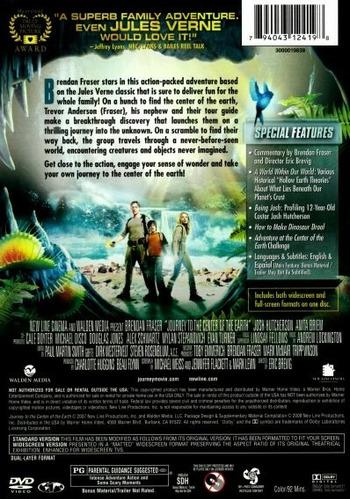 dvd viaje al centro de la tierra 2008 julio verne fraser