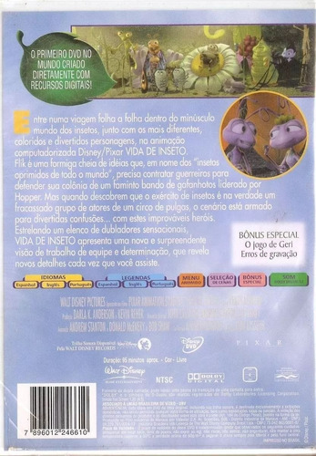 dvd vida de inseto - disney pixar - original novo lacrado