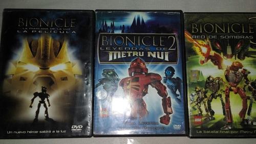 dvd video lego bionicle usadito
