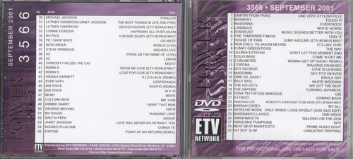 dvd videos house dance electronica rock pop hip hop años '90
