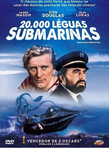 dvd vinte mil léguas submarinas, kirk douglas, james mason +