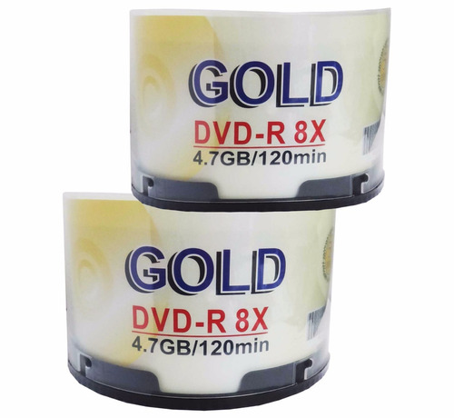 dvd virgen gold 4.7 gb 8x paq. 100 unidades
