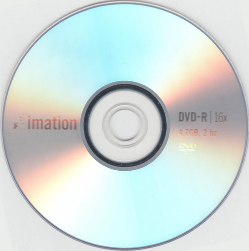dvd virgen imation 8x estampado bulk x 100u 4.7gb