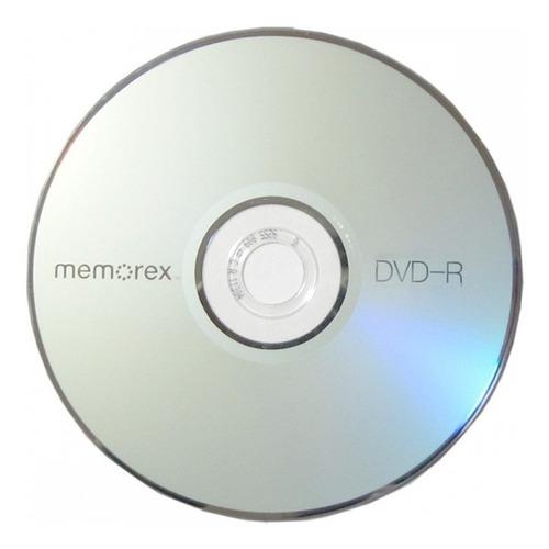 dvd virgen memorex 8x estampado x 100 4.7gb