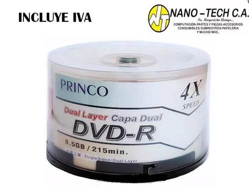dvd virgen princo dual layer 8.5 gb torre 25 unds nano