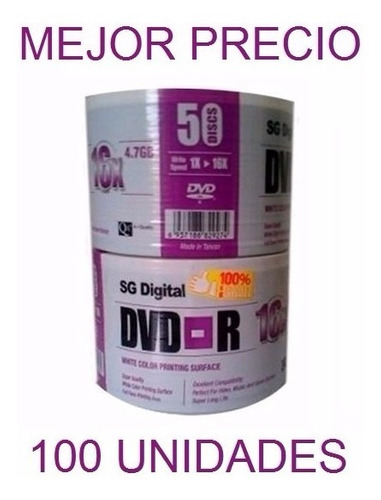 dvd virgen sg digital dvd-r 16x 4.7 gb