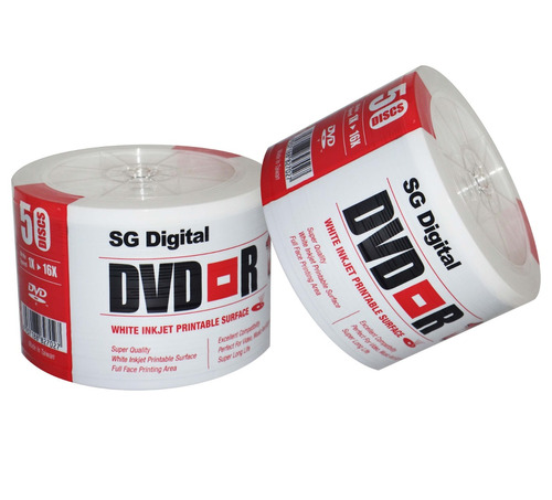 dvd virgen sg digital paq. 100 und printeable 16x
