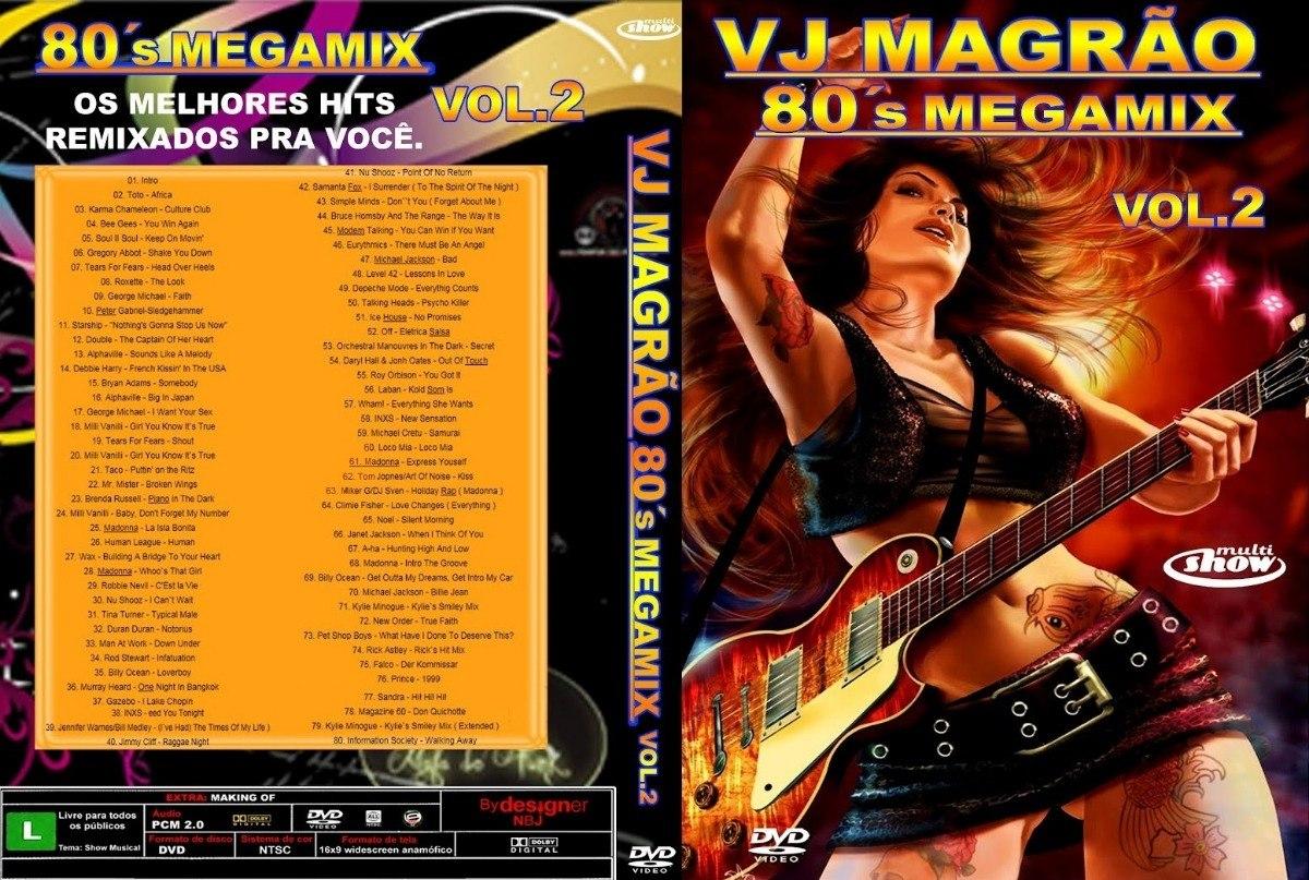Dvd Vj Magrão 80´s Megamix Vol 2