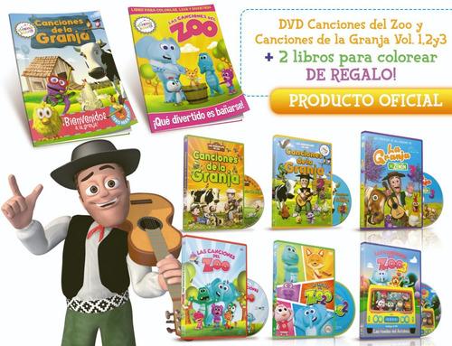 dvd vol.1,2y3 granja zenon y zoo+ 2libros regalo! oficial