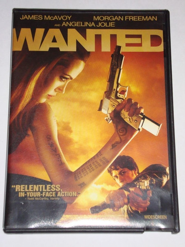 dvd wanted - angelina jolie morgan freeman original usada