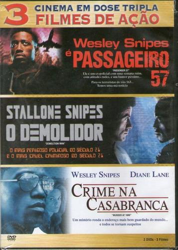 dvd wesley snipes - 3 filmes - novo***