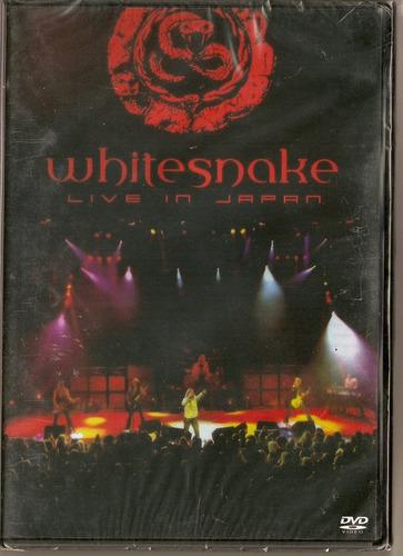 dvd whitesnake - live in japan - novo***