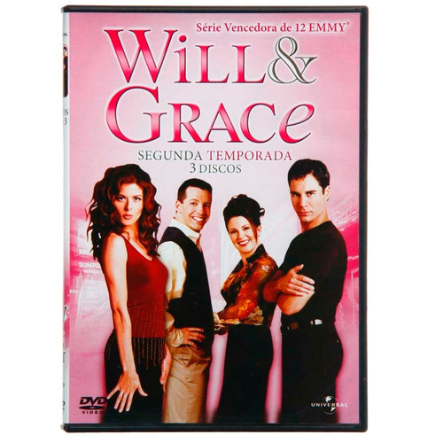 dvd will & grace - 2ª temporada -3 discos