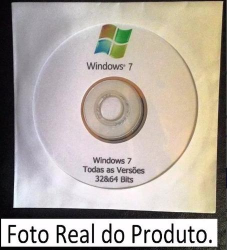 dvd windows 7 32/64 bits todas versões ativação original