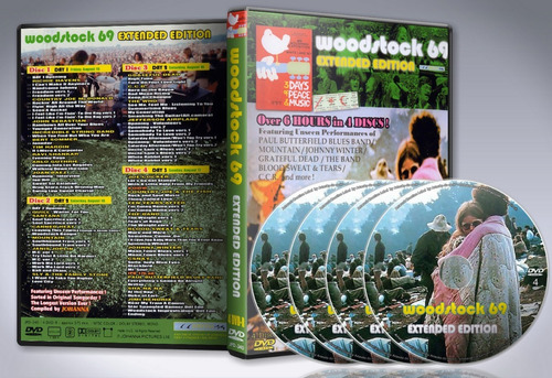 dvd woodstock -  extended edition 1969 (4dvds)