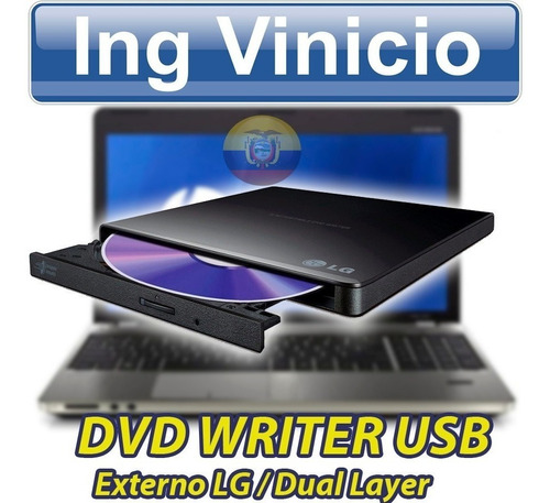 dvd-writer lg gp65nb60 24x externo usb slim doble capa nuevo