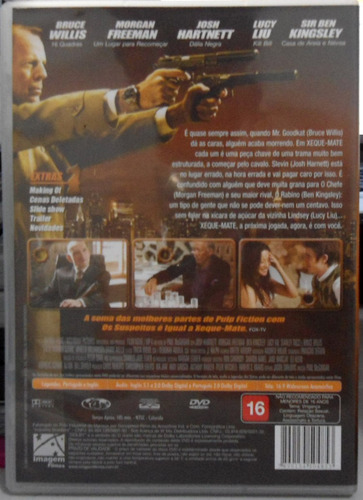 dvd xeque mate - bruce willis - impecável