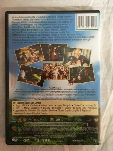 dvd xuxa e o tesouro da cidade perdida