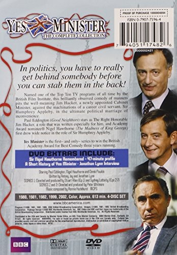 dvd : yes minister: the complete collection (3 disc)