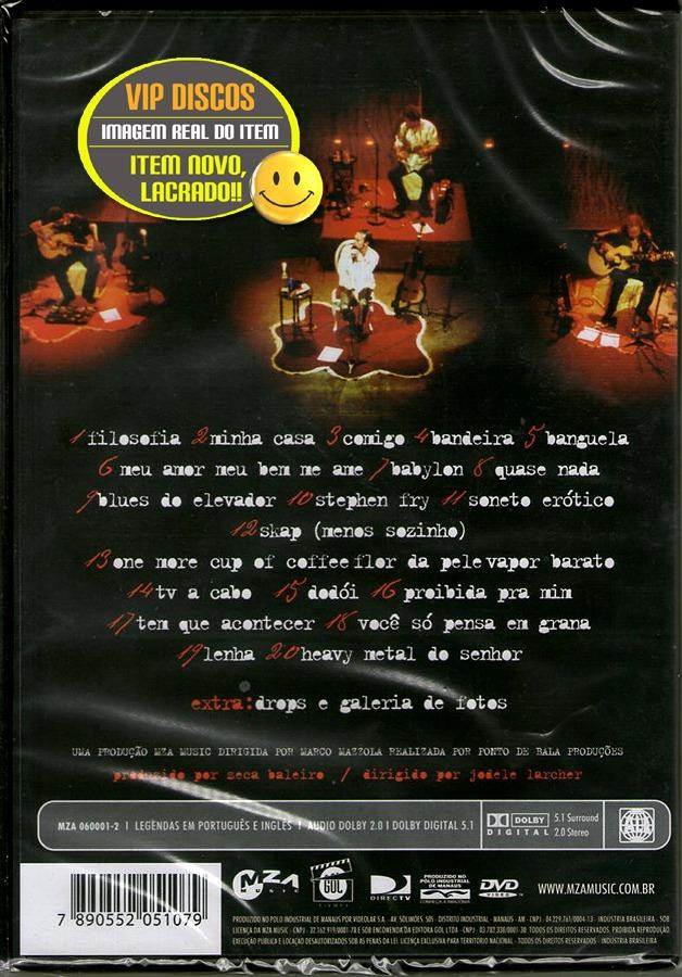 dvd liricas zeca baleiro