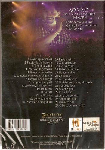 dvd zezo dos teclados - casa do matuto natal-rn (lacrado)