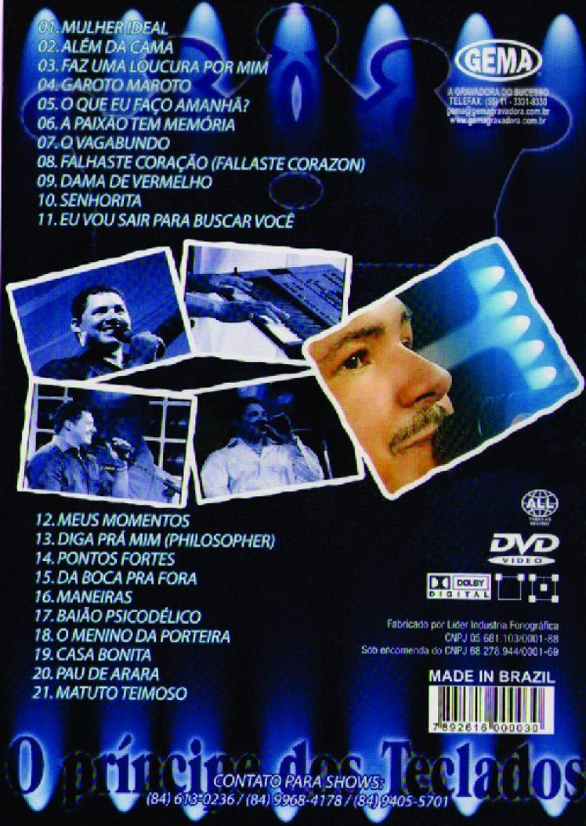 dvd zezo o principe dos teclados