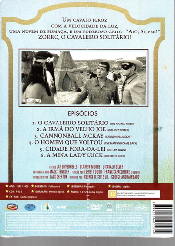 dvd zorro o cavaleiro solitario 2 classicline bonellihq h19