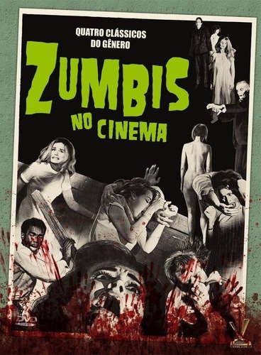 dvd zumbis no cinema  volume 1, estojo amaray 2 discos    +