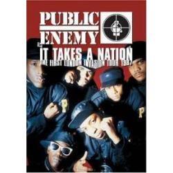 dvd/rap public enemy-it takes a nation/the first london 1987