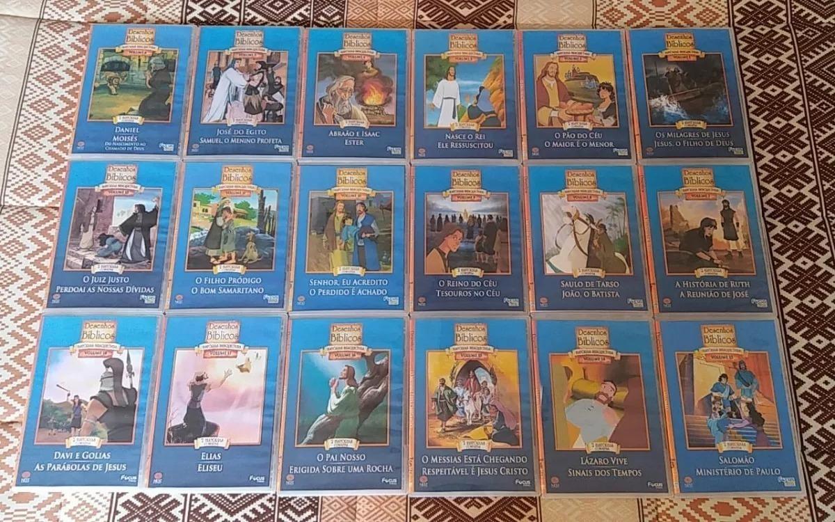 Dvds 18 Colecao Desenhos Biblicos Vol 1 A 18 Infantil R