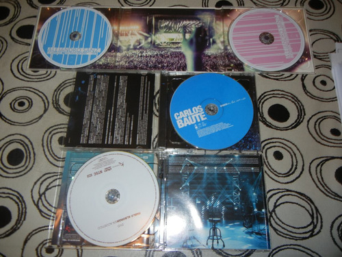 dvds ale sanz-pablo alboran-carlos baute+cds en vivo