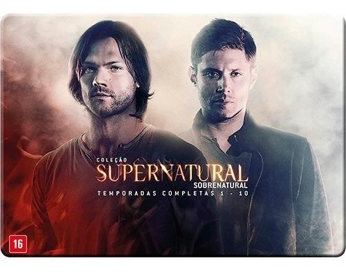dvds (box) supernatural: coleção completa / todas 10 temp.