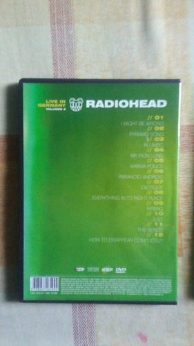 dvd's de conciertos de radiohead