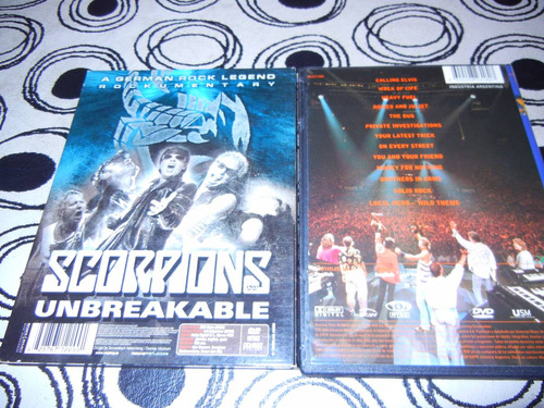 dvds dire straits /on the night-scorpions/unbreakable