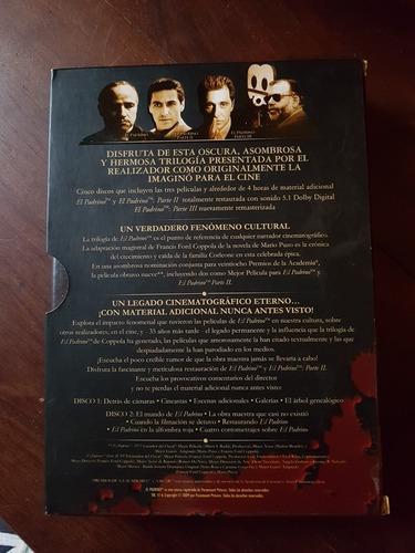 dvds el padrino (colección completa+material extra) original