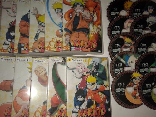 dvds naruto classico + shippuden completos + 11 filmes