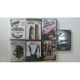 Dvd's Originais - Coleção Jogos Mortais (1,2,3,5,6,7 E 8)