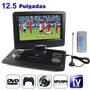 Dvd Portatil De 12.5 Con Tv Usb Sd Radio 3d Incluye Gafas