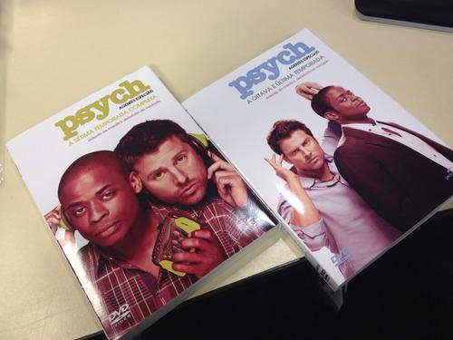 dvds psych: agentes especiais - a 7º e 8º temporada completa