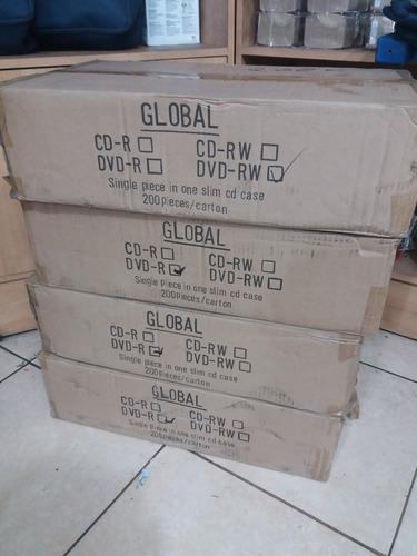 dvds-r normal. caja de 50 unidades con estuche.