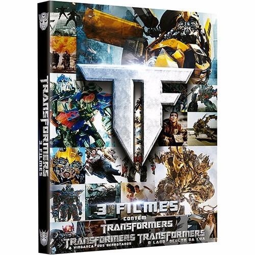 dvds trilogia transformers (3 dvds originais) #
