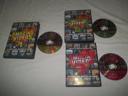 dvds world's most amazing videos 3 vols. - serie