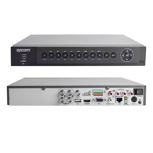 dvr 1080p / 4 canales 3mp epcom turbo hd