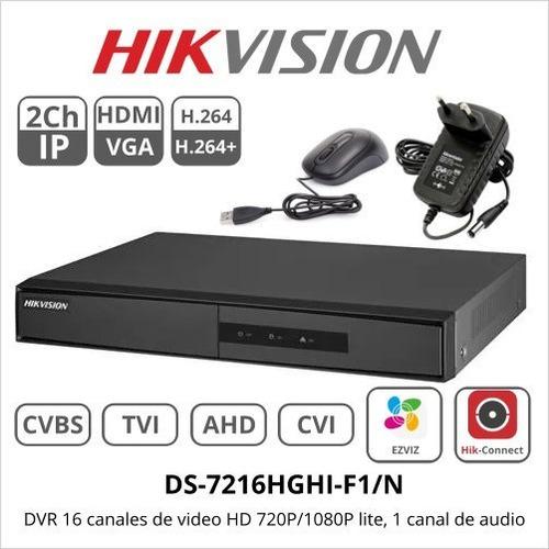 dvr 16 canales pentahibrido hikvision 720p/1080p lite