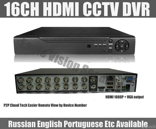 dvr 16ch para sistema de seguridad con puerto hdmi