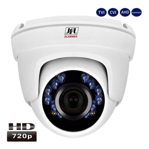 dvr 8 canais c/ 5 cameras jfl hd tvi 720 p dome metal